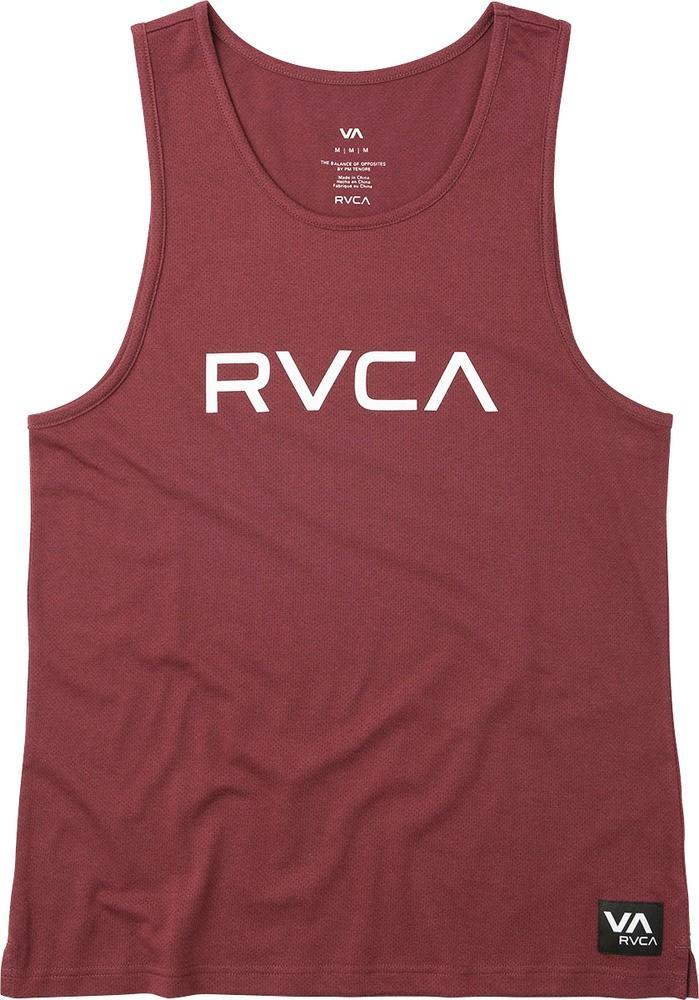 Rvca Men's Big Logo-print Mesh Tank In Tawny Port