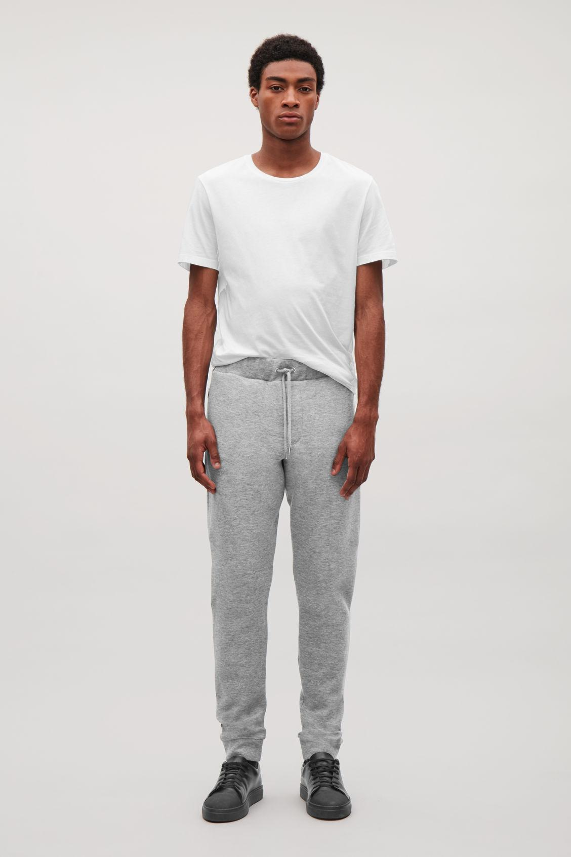 Cos Relaxed Jersey Trousers In Grey