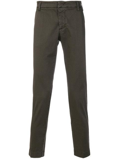 Entre Amis Cropped Chino Trousers - Green