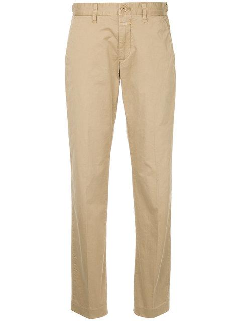 Closed Wide Leg Trousers - Nude & Neutrals