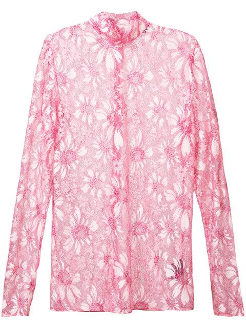 Calvin Klein 205w39nyc Floral Lace Top - Pink