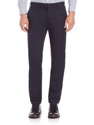 Burberry Slim-fit Chinos In Navy