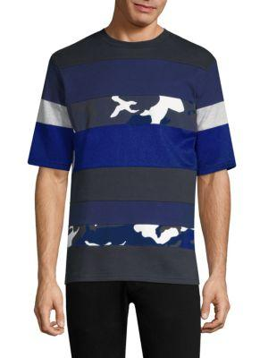 Tommy Hilfiger He Mixed Striped Tee In Sky