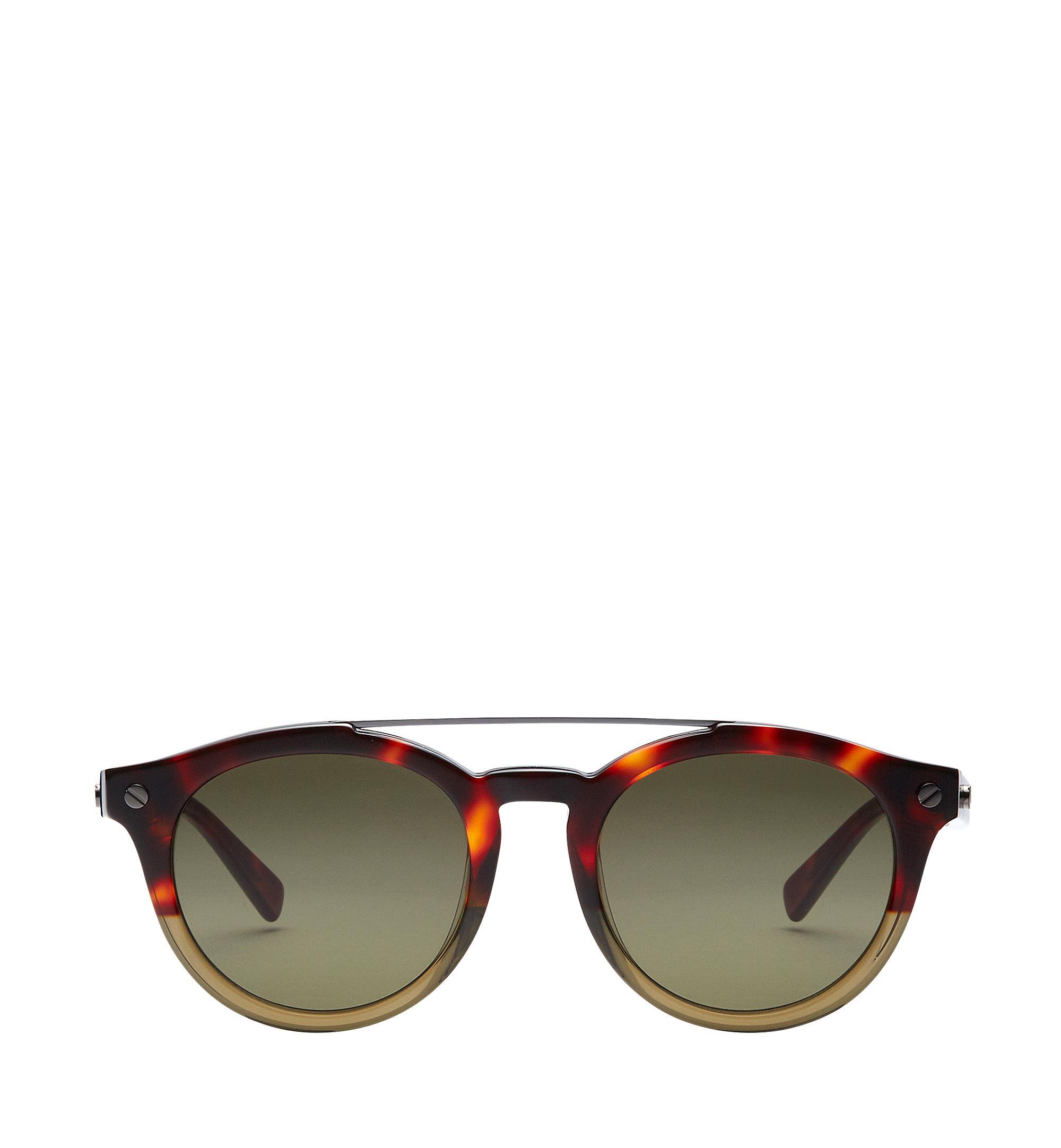 Mcm Round Aviator Sunglasses In Havana