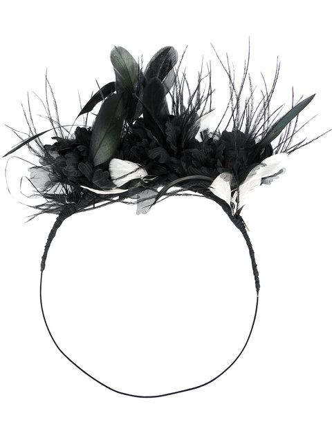 Ann Demeulemeester Feather Embellsihed Hair Band