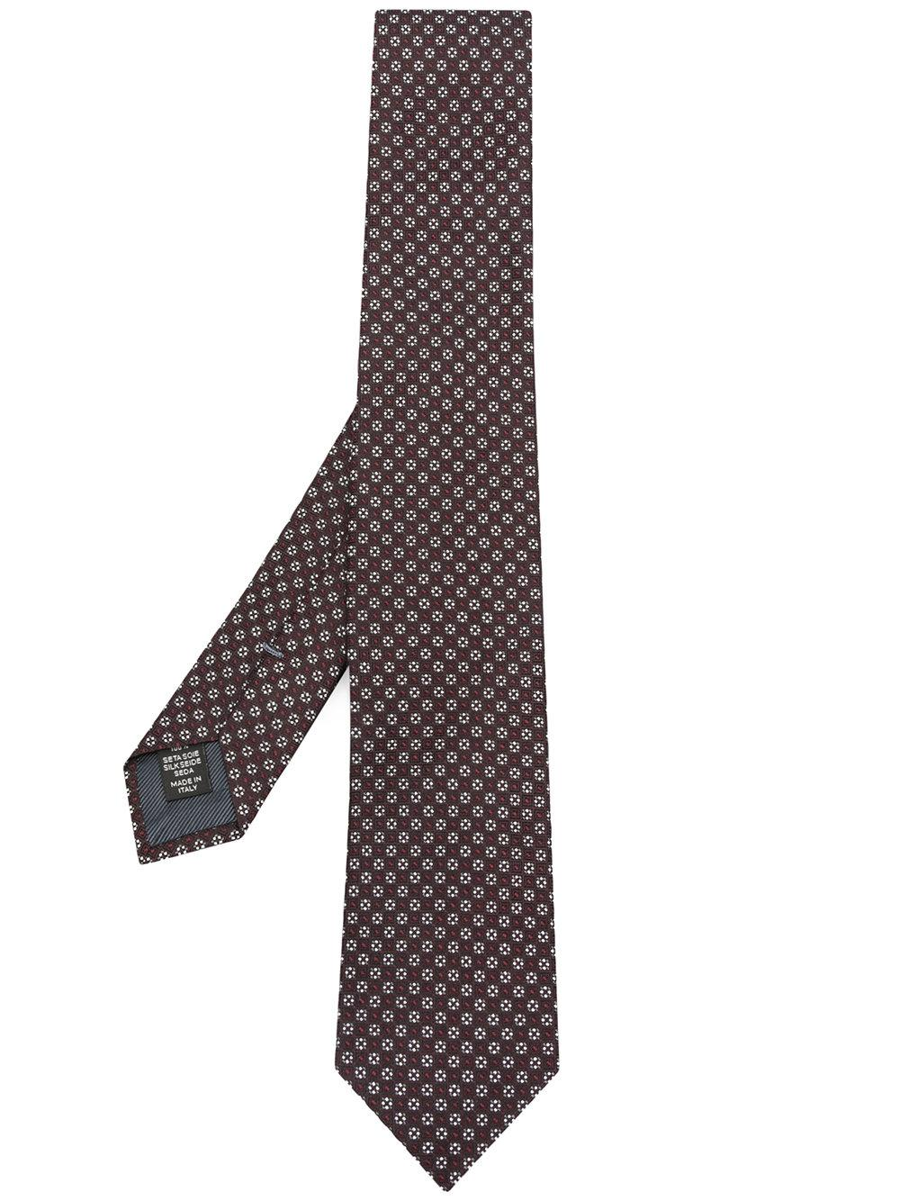 Ermenegildo Zegna Box Patterned Tie - Red