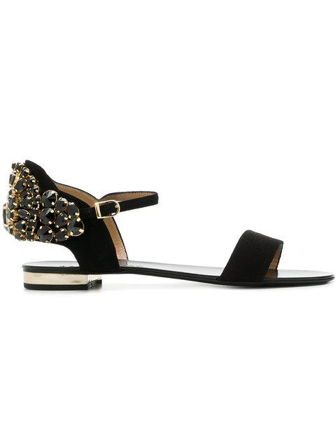 Marc Ellis Crystal Embellished Sandals