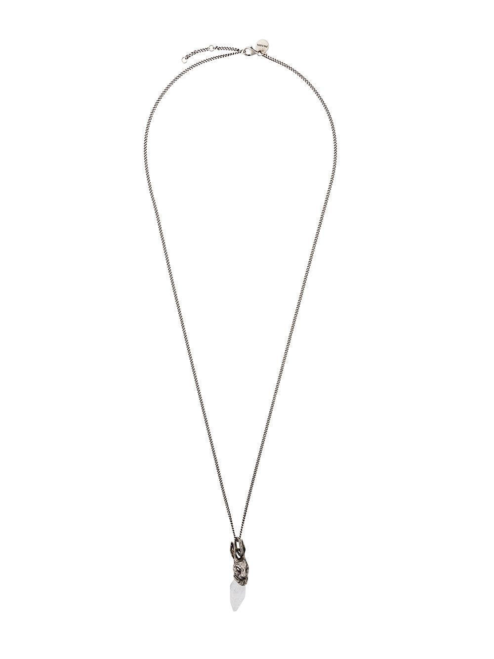 Prada Rabbit Pendant Necklace