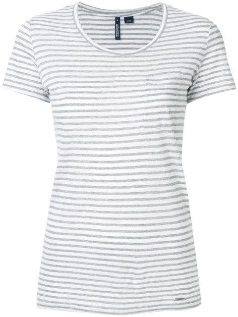 Woolrich Striped T-shirt  In Grey