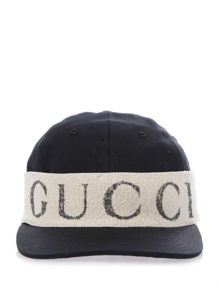 Gucci Cap With Logo Headband In Black