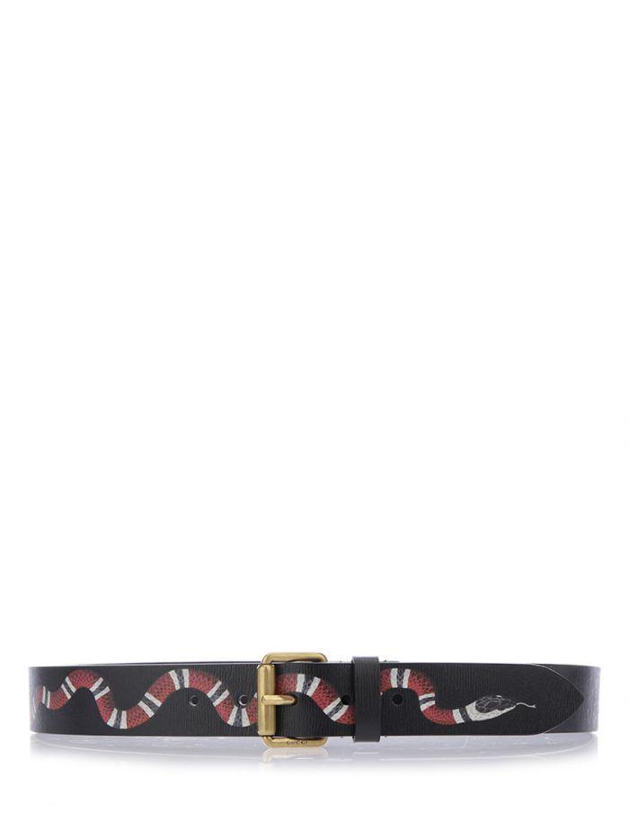 "Gucci ""kingsnake"" Belt In Black"