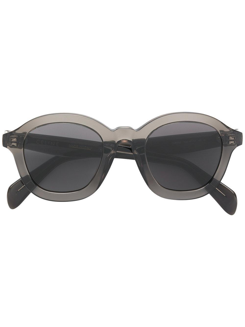 Celine Round Frame Sunglasses In Grey