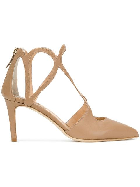 Racine CarrÉe Pointed Toe Pumps In Neutrals