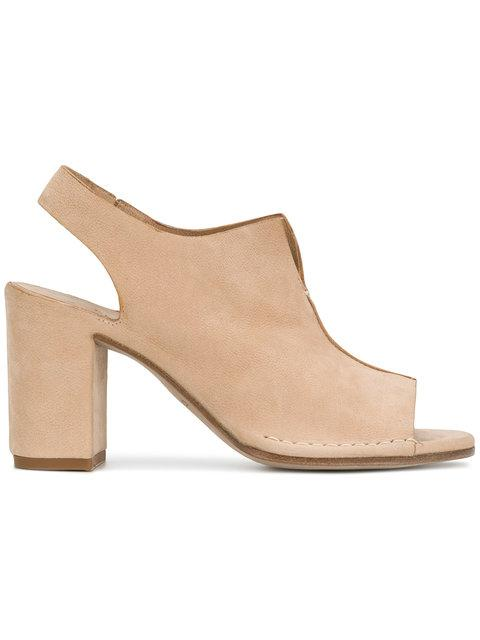 Del Carlo Block Heel Sandals - Neutrals