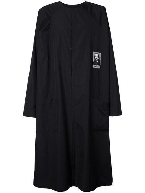 Yohji Yamamoto Photo Print Longline Coat