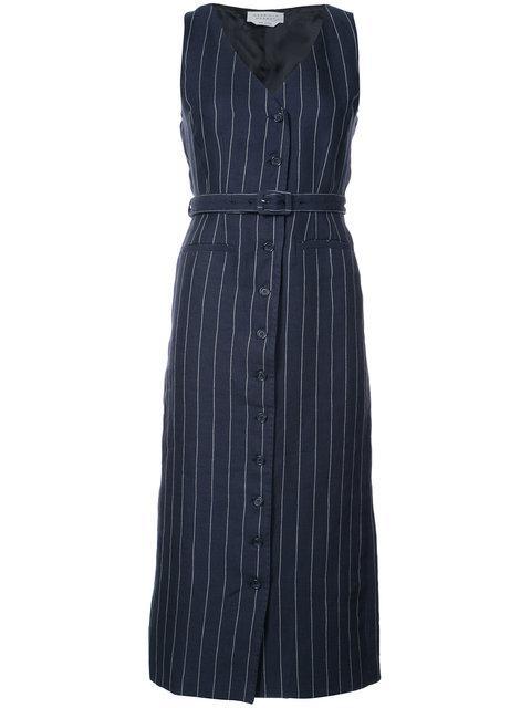 Gabriela Hearst Pinstripe Shirt Dress