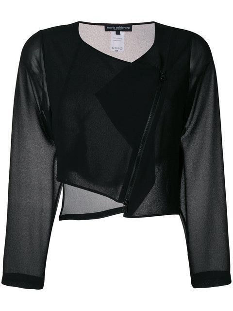 Maria Calderara Cropped Jacket - Black