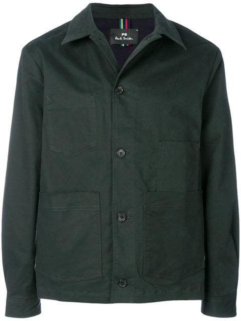 Ps By Paul Smith Shirt-style Jacket - Green