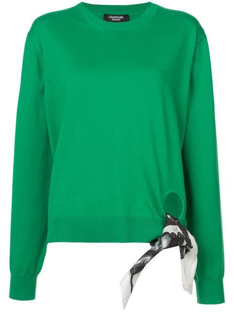 Calvin Klein 205w39nyc X Andy Warhol Scarf Detail Top - Green