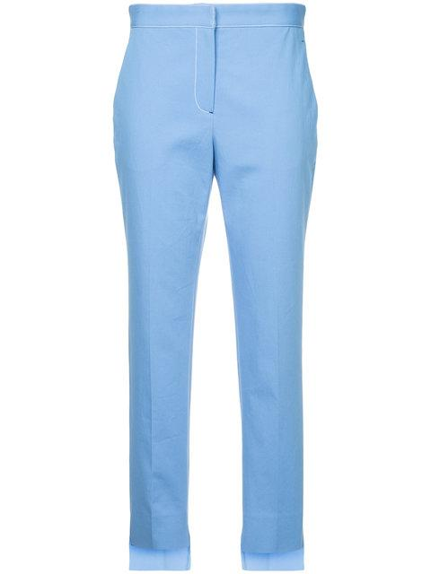 Rosetta Getty Contrast Stitch Tapered Trousers - Blue
