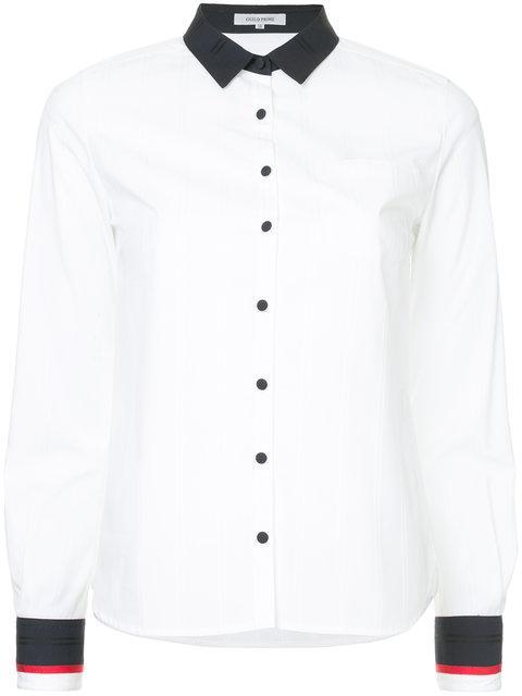 Guild Prime Contrast Trim Shirt - White