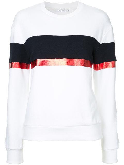 Guild Prime Contrast Stripe Sweatshirt - White
