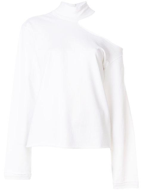 Rta Cold Shoulder Sweatshirt - White