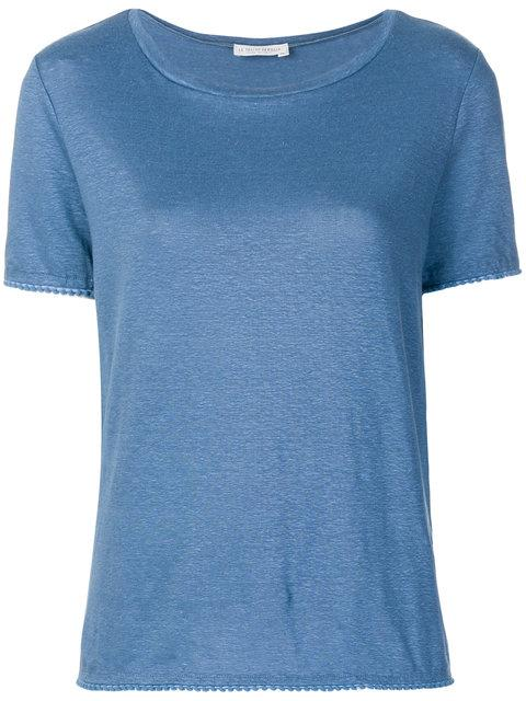 Le Tricot Perugia Basic T In Blue