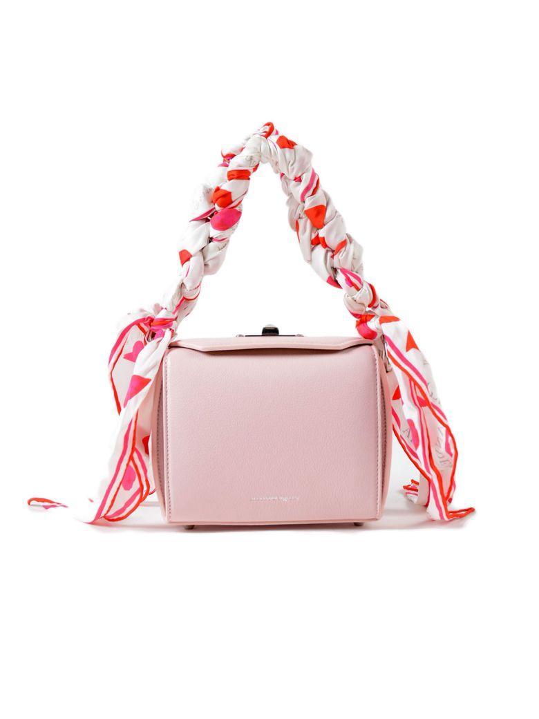Alexander Mcqueen Box Shoulder Bag In Baby Pink+ivory