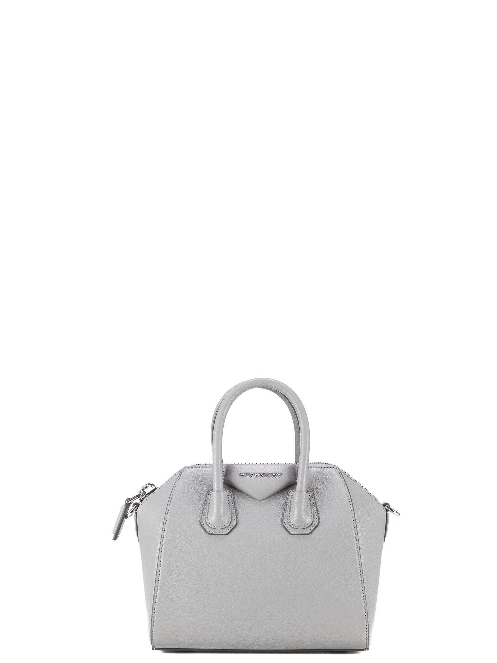Givenchy Mini Antigona Tote In Grey