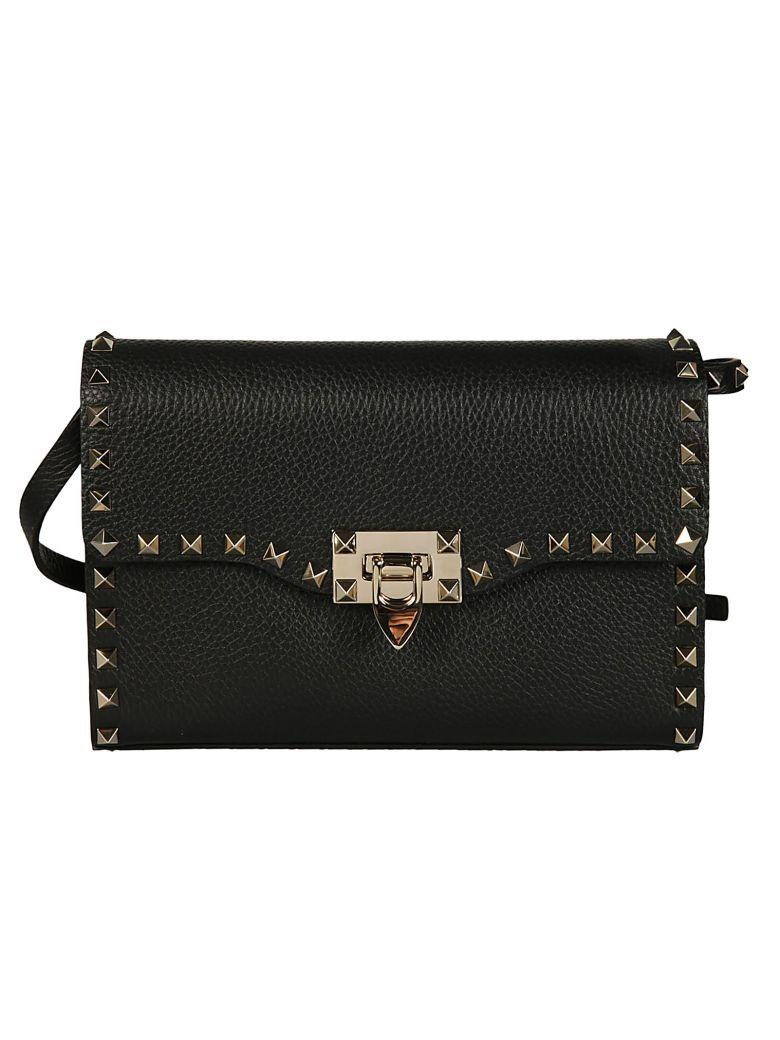Valentino Garavani Valentino Rockstud Small Shoulder Bag In Black