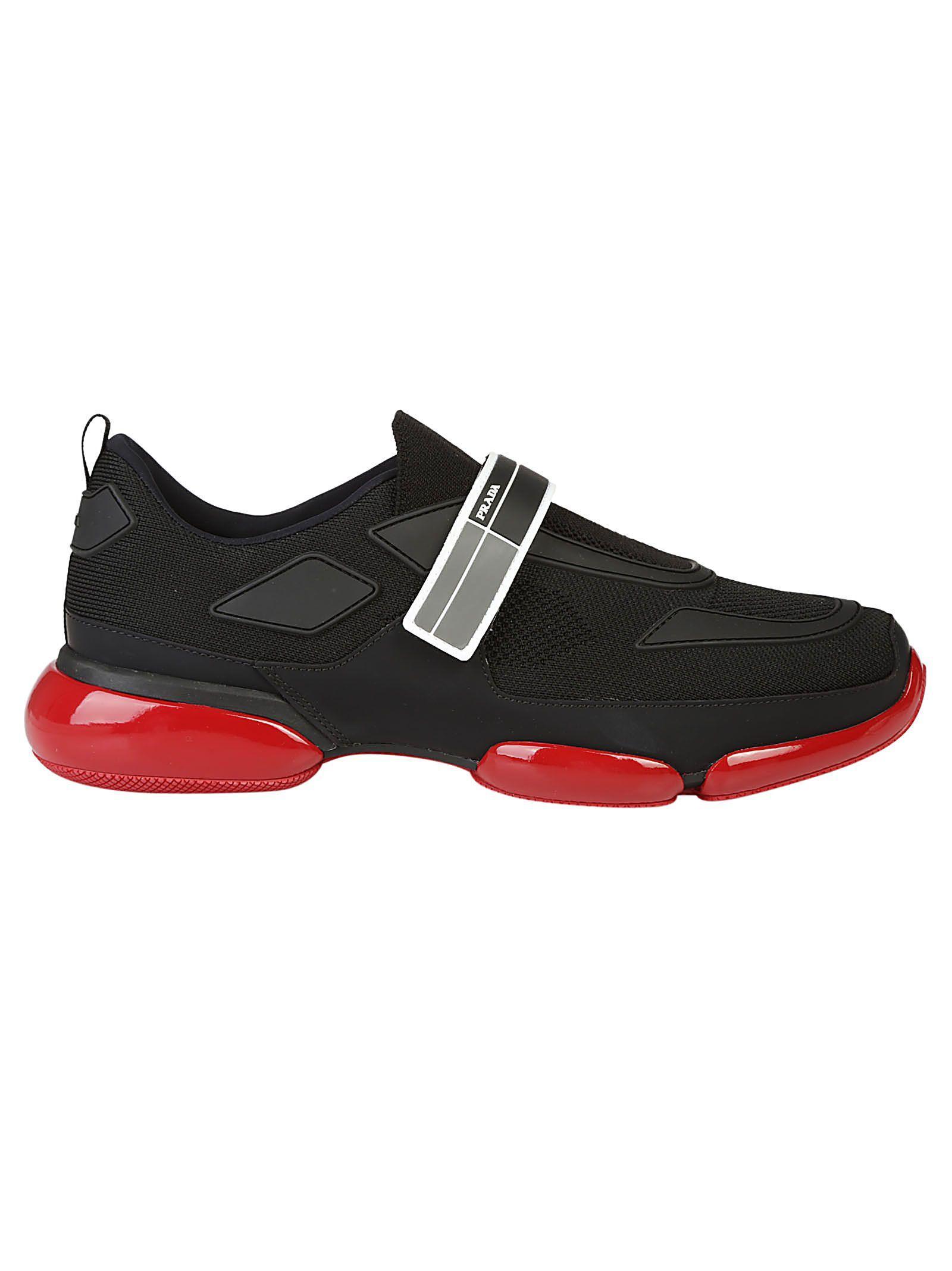 Prada Sneakers In Nero+fumo