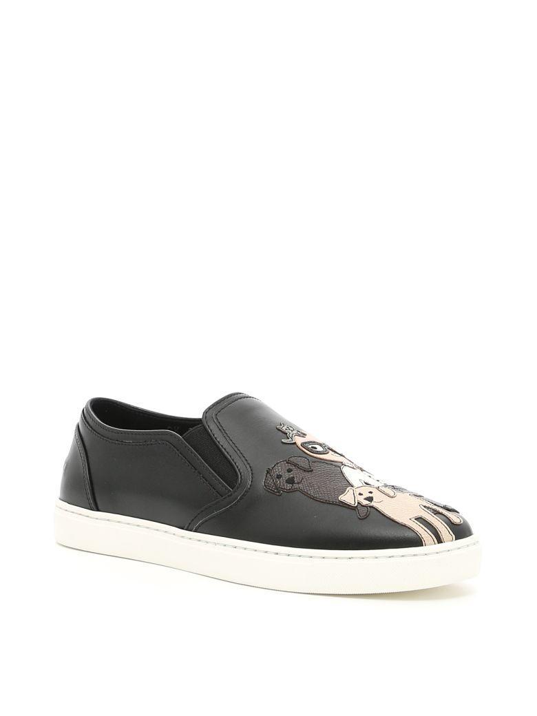 Dolce & Gabbana London Sneakers In Neronero