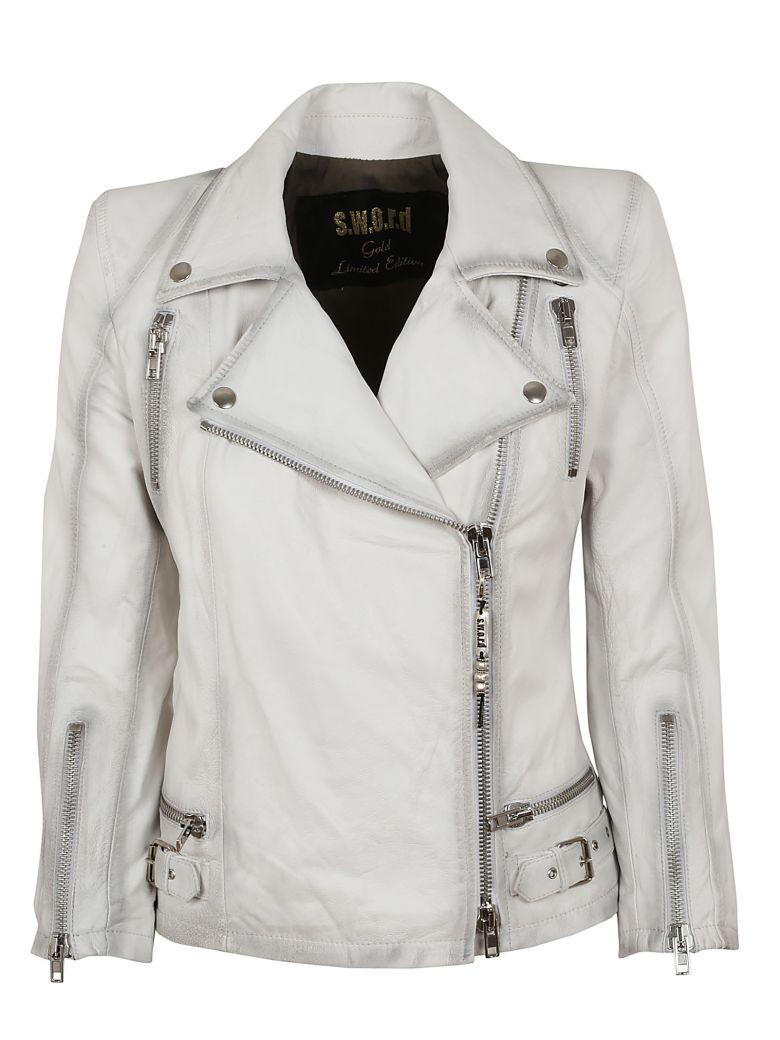 Sword 6.6.44 S.w.o.r.d 6.6.44 Classic Biker Jacket In White