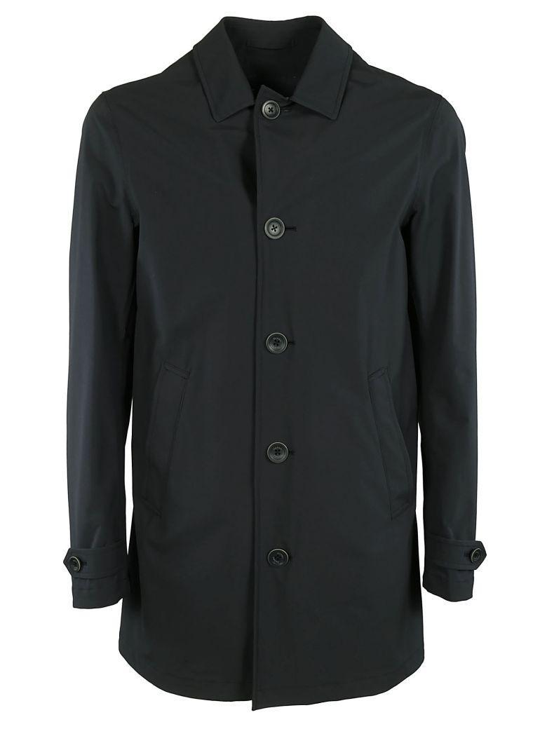 Herno Classic Raincoat In Black