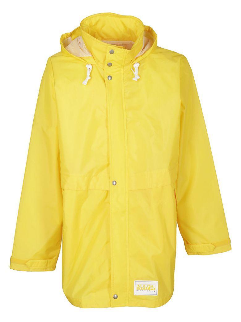 Napapijri Drawstring Raincoat In Giallo