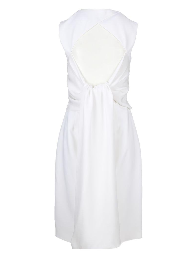 Givenchy Open Back Midi Dress In 100