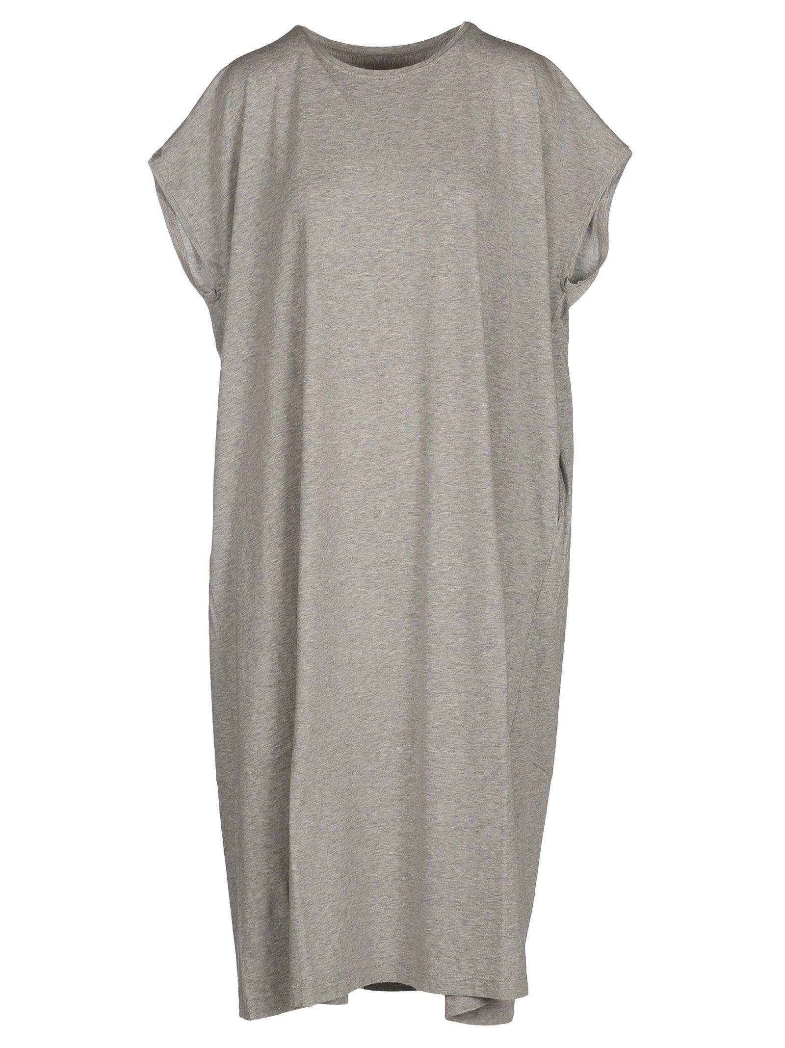Mm6 Maison Margiela Oversize Dress In Grey Melange