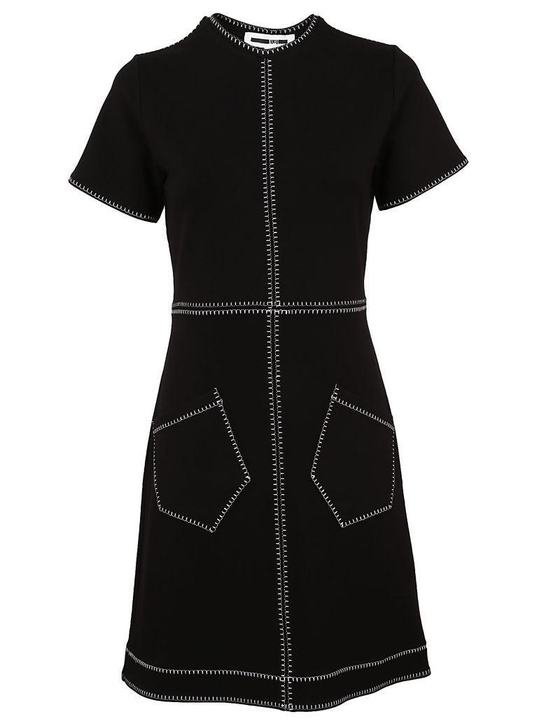 Mcq By Alexander Mcqueen Mcq Alexander Mcqueen Stitched Detail Dress In Black