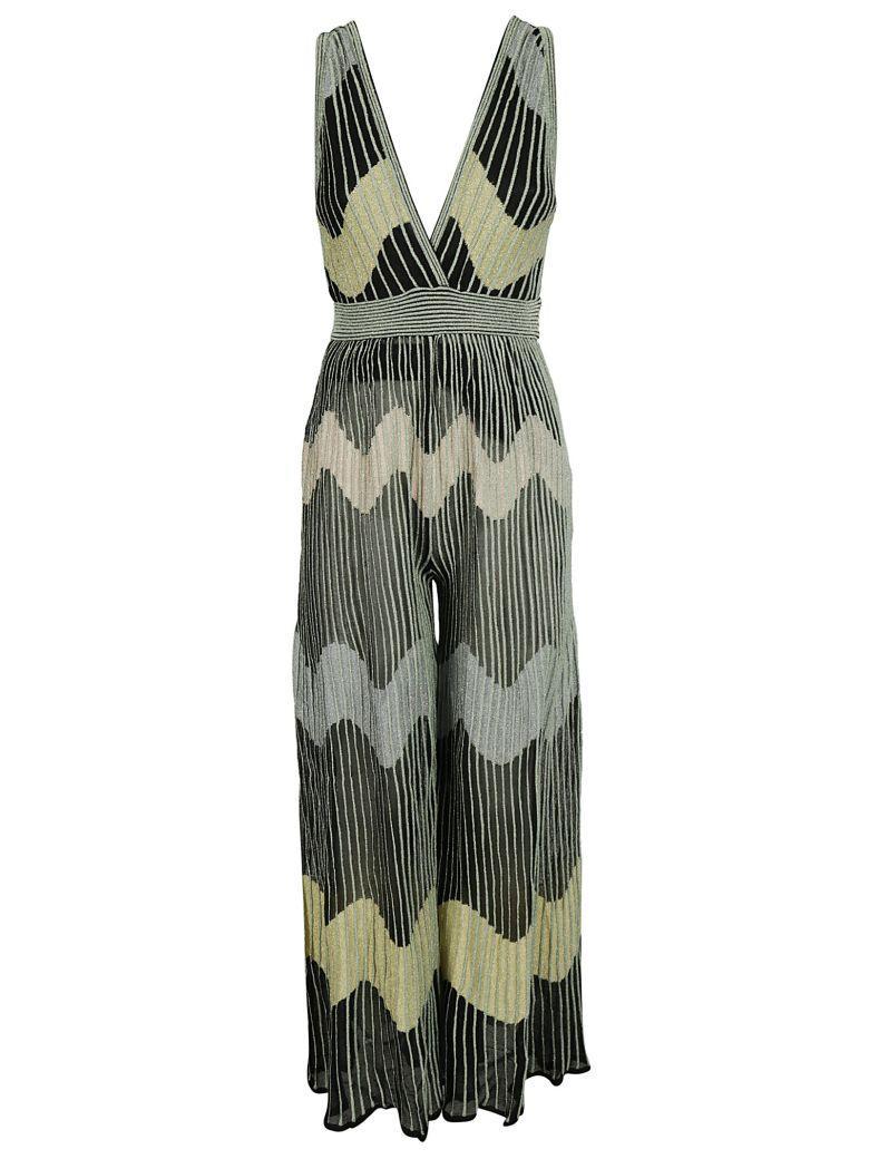 Missoni Striped Jumpsuit In Black