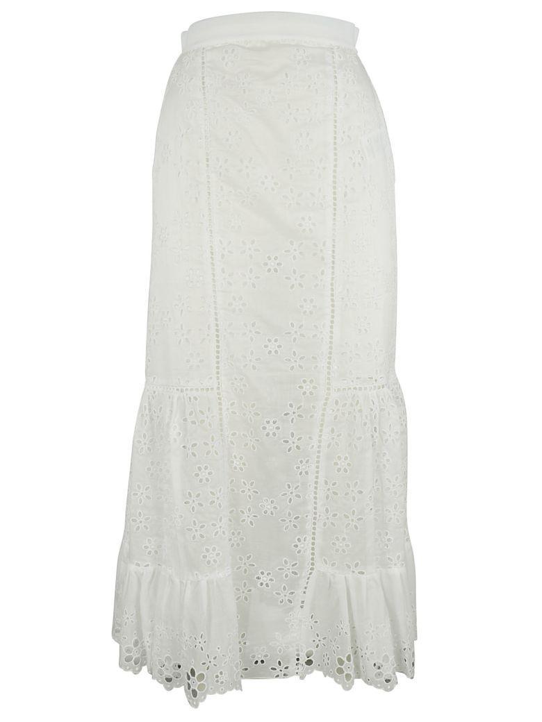 Ermanno Scervino Lace Skirt In White