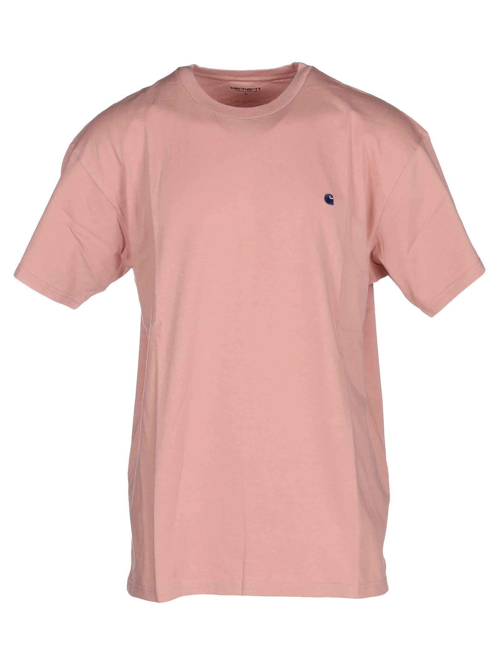 Carhartt Embroidered Logo T-shirt In Pink
