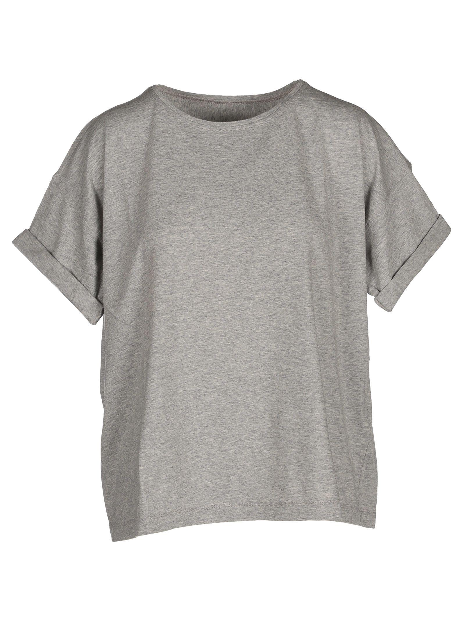Mm6 Maison Margiela Cotton T-shirt In Grey Mel