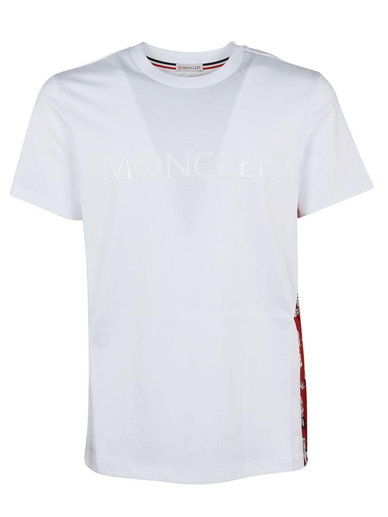 Moncler Stitched Logo T-shirt In White