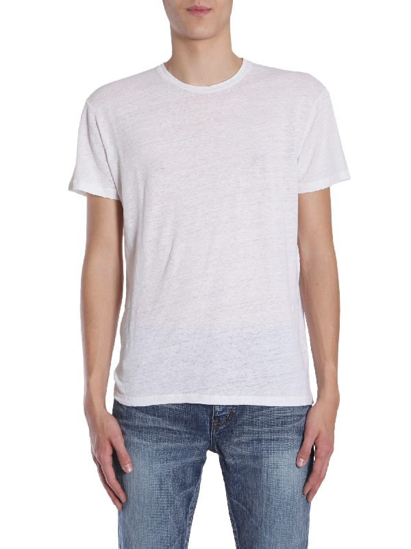 Etro Round Collar T-shirt In White