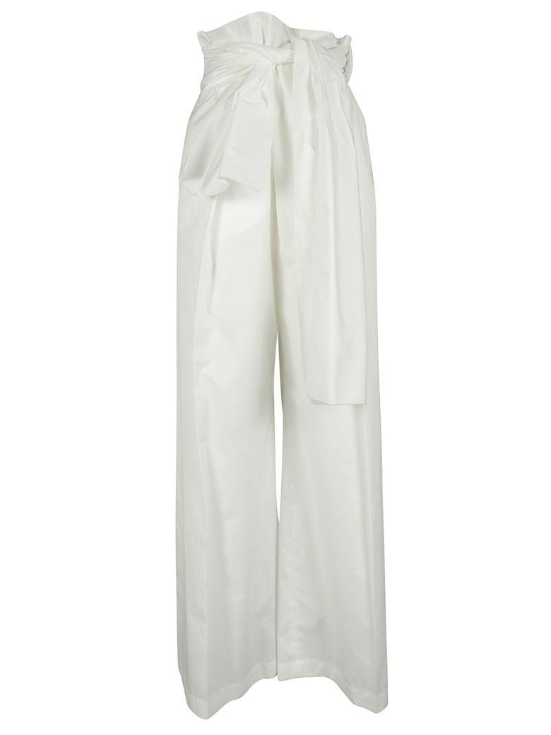 Sportmax Code Bowtie Trousers In White