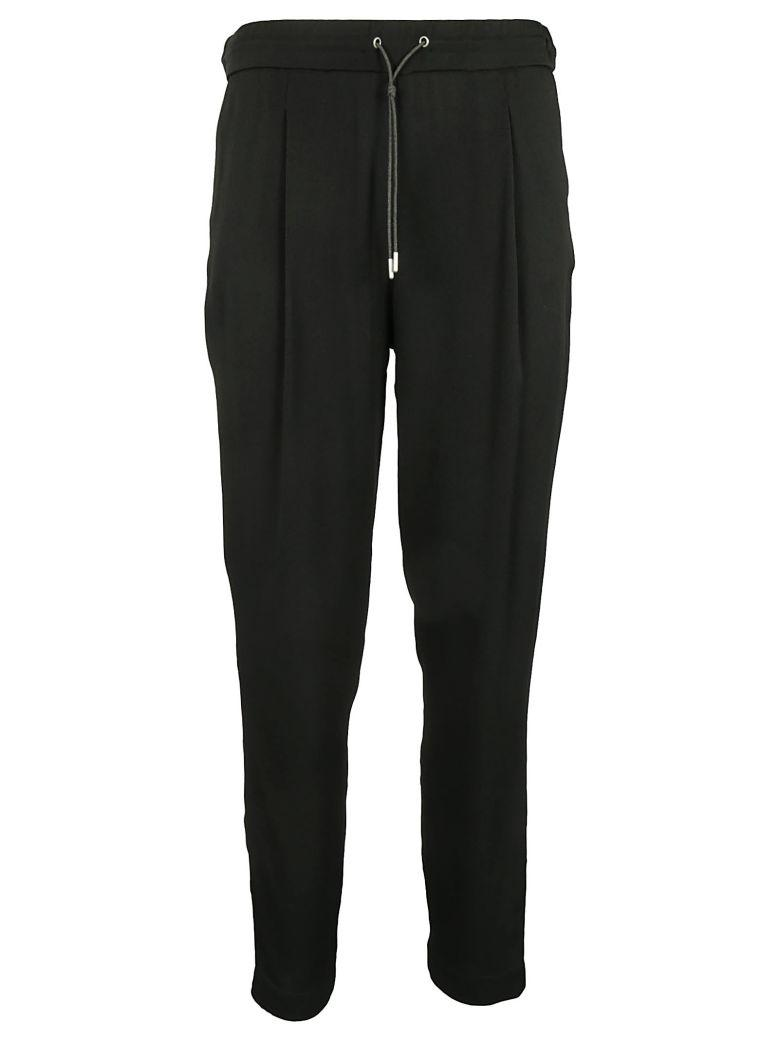 Fabiana Filippi Drawstring Trousers In Black