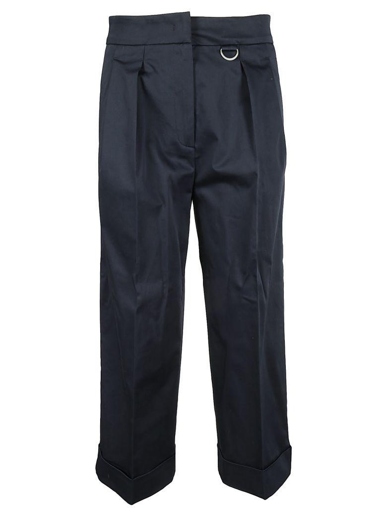 Fabiana Filippi Cropped Trousers In Navy