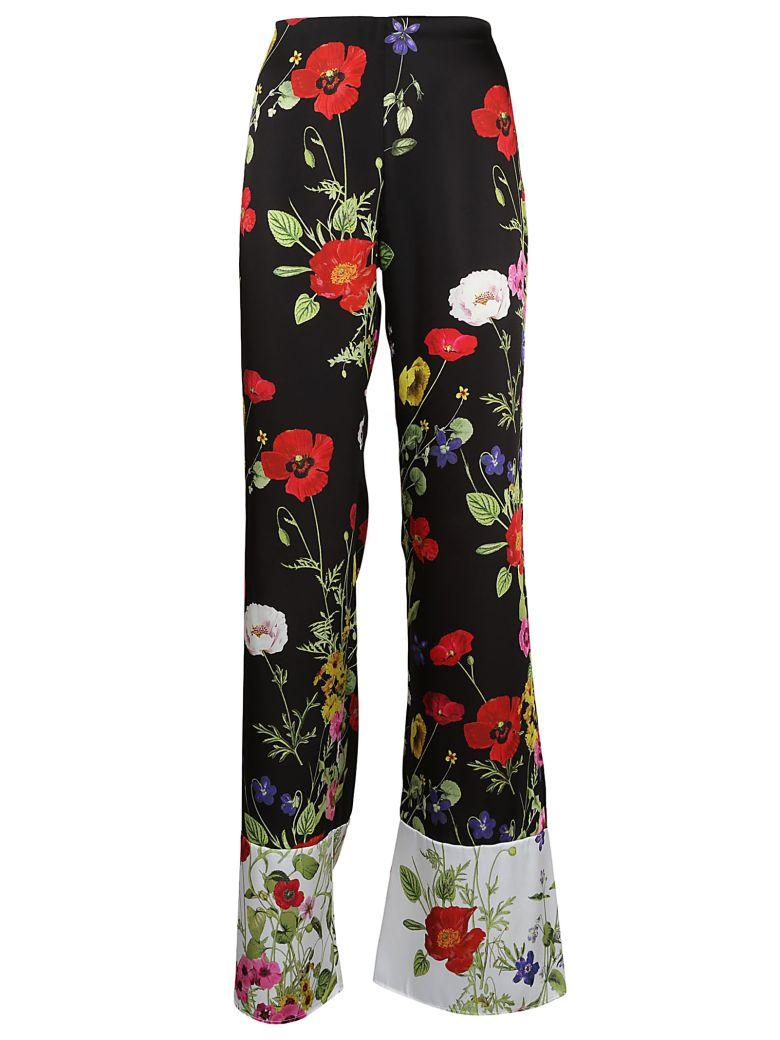 Blugirl Floral Trousers In Multicolor