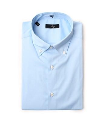 Fay Men's  Light Blue Cotton Shirt